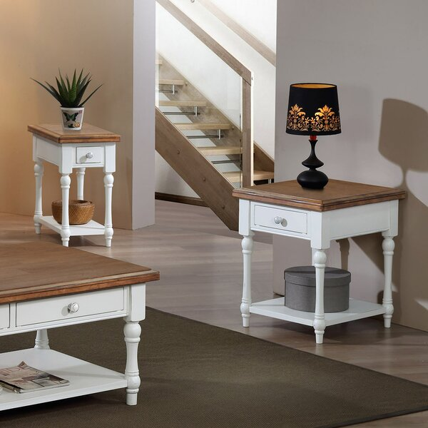 Cornwall End Table With Storage By Highland Dunes