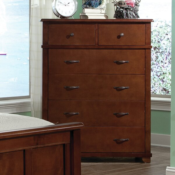 Bonneau 6 Drawer Solid Wood Chest by Harriet Bee