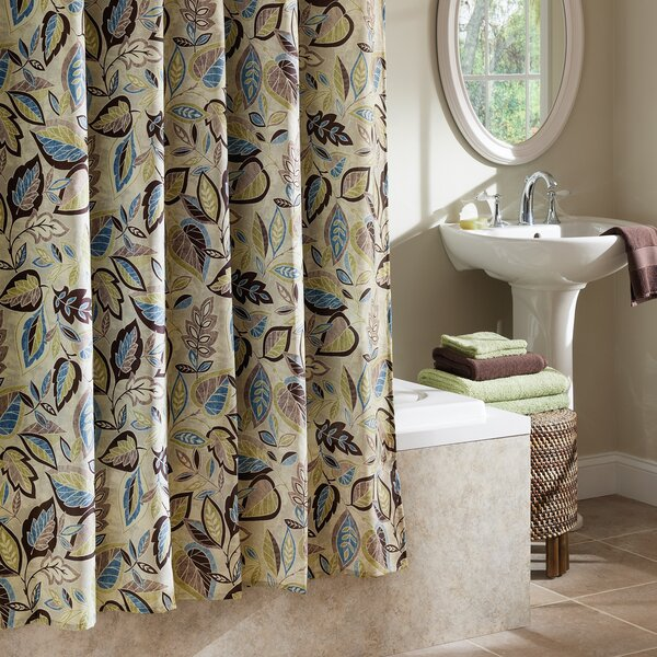Williams Jacobean Leaf Shower Curtain by Red Barrel Studio