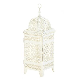 Low priced Quatrefoil Design Cutout Iron Lantern By Zingz & Thingz