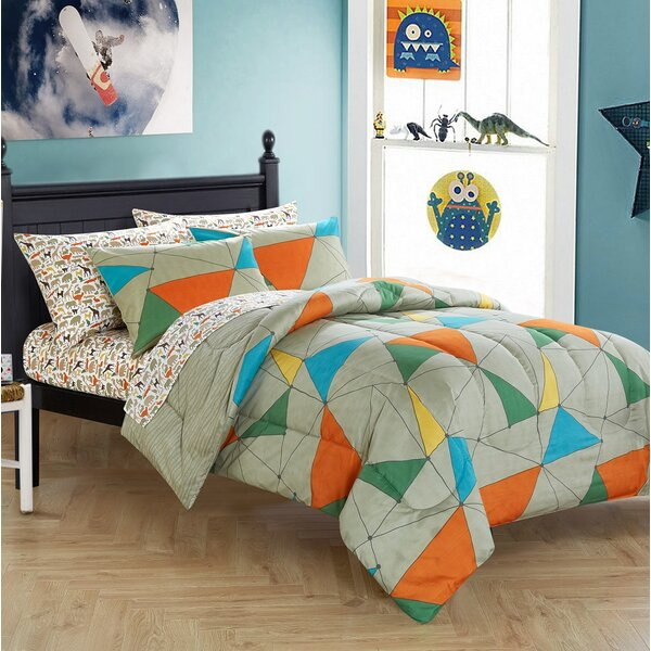 Keltner Reversible Comforter Set by Zoomie Kids