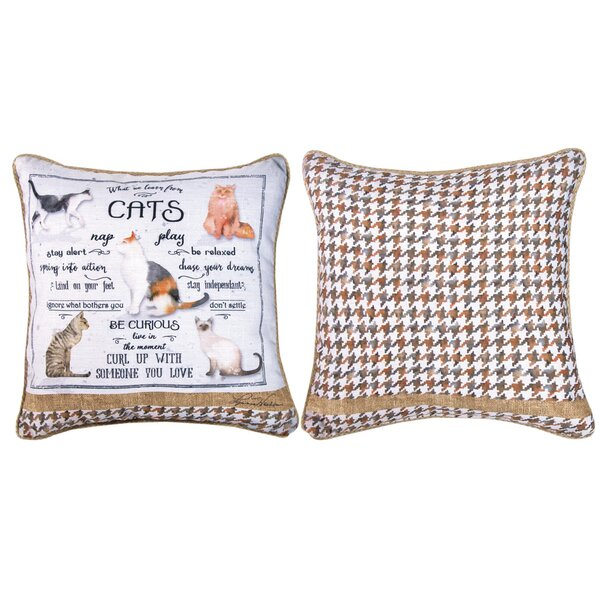 What We Learn from Cats - Dye Throw Pillow by Manual Woodworkers & Weavers