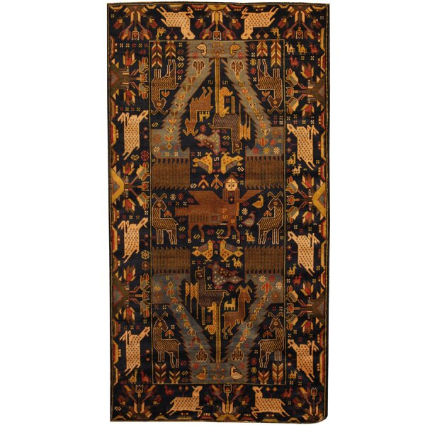 Prentice Hand-Knotted Navy/Ivory Area Rug by Isabelline