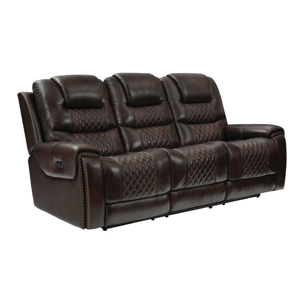 Nezperce Leather Reclining Sofa By Winston Porter