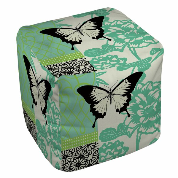 Butterfly Journey Pouf by Manual Woodworkers & Weavers