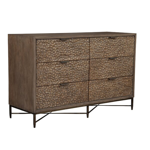 Jakey 6 Drawer Double Dresser By Union Rustic Savings