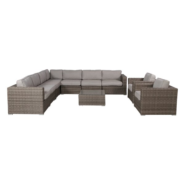 Deandra 10 Piece Sectional Set with Cushions by Sol 72 Outdoor