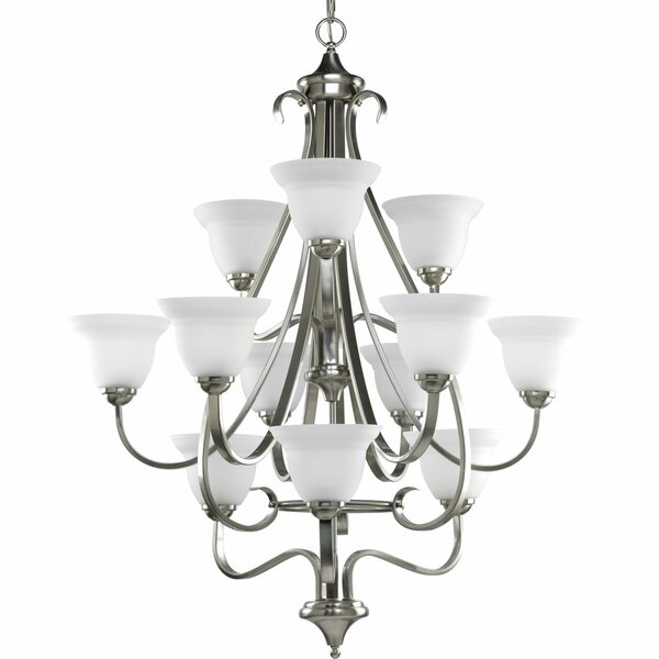 Lilly Traditional 12-Light Shaded Chandelier by Fleur De Lis Living
