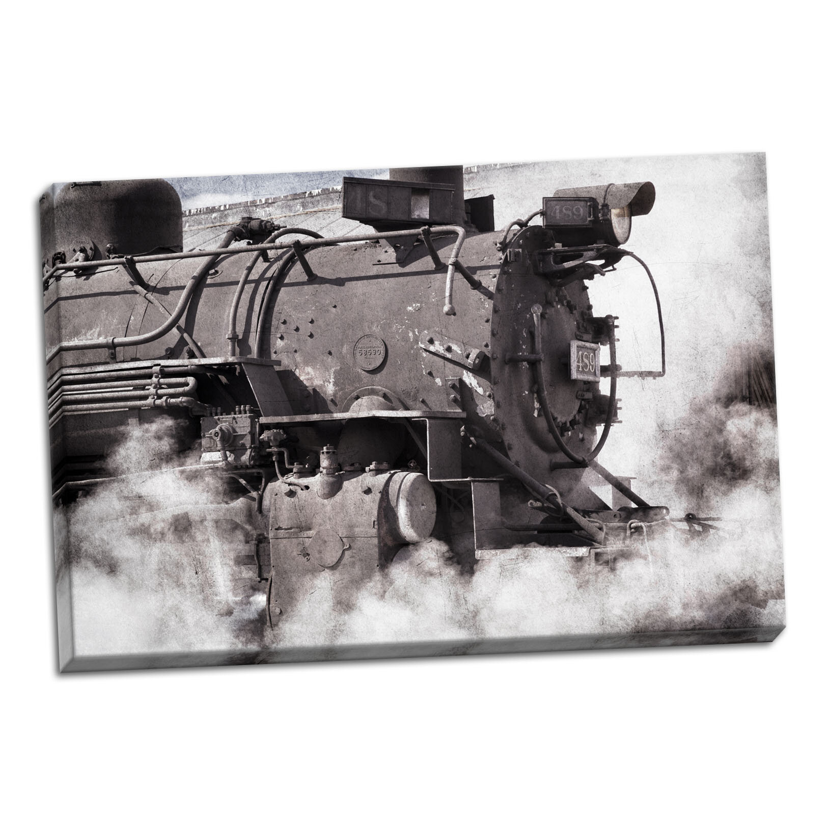 Williston Forge Steam Train Ii Photographic Print On Wrapped