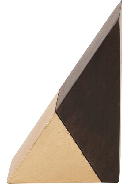 Triangle Gilded Wood Object by DwellStudio