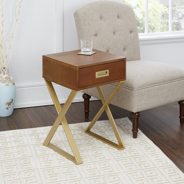 Merlin X-Base End Table with Storage by Mercer41
