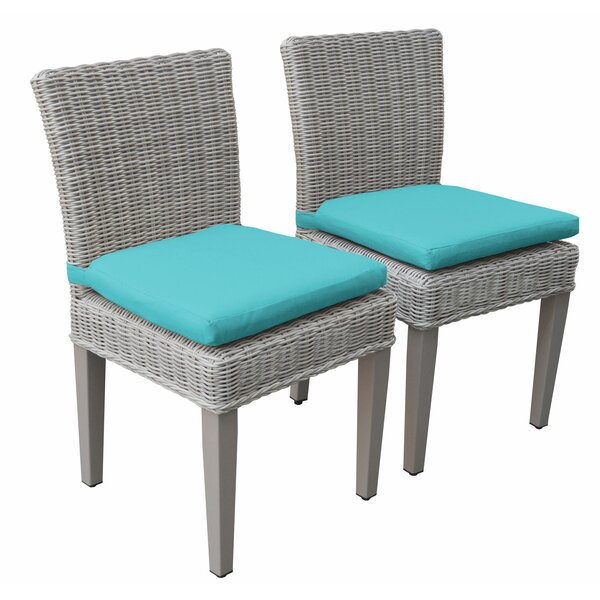 Symone Patio Dining Chair with Cushion (Set of 2) by Breakwater Bay