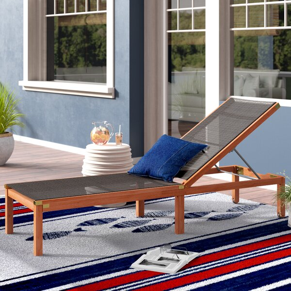 Fann Reclining Chaise Lounge by Beachcrest Home