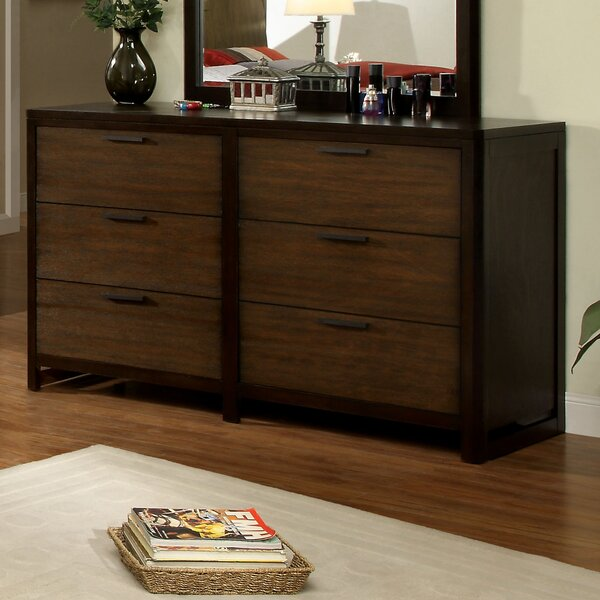 Clanton 6 Drawer Double Dresser by Hokku Designs
