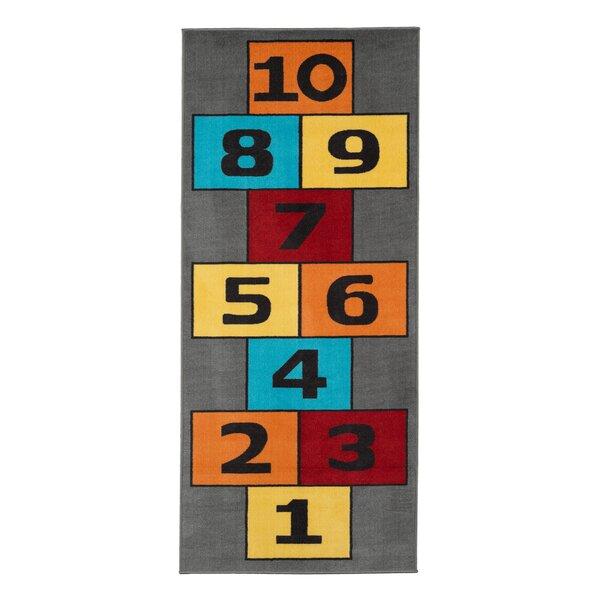 Malik Educational Hopscotch Children Area Rug by Zoomie Kids