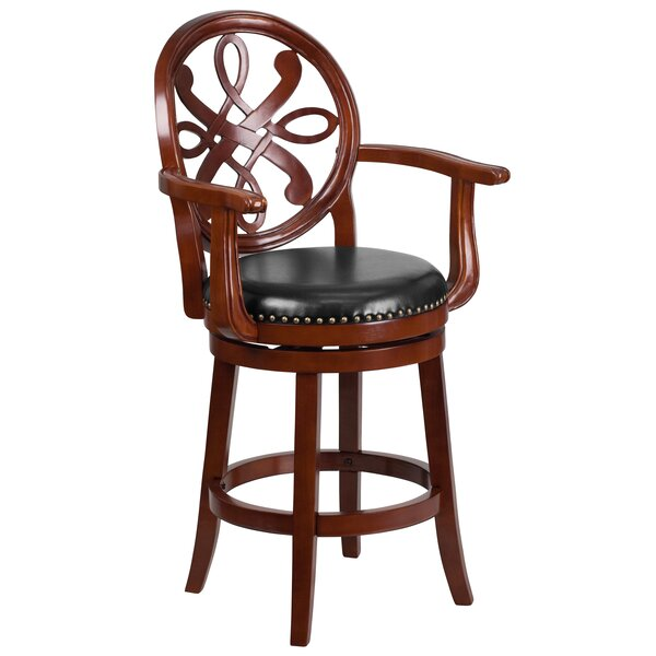 Hawks 26'' Swivel Bar Stool by Astoria Grand