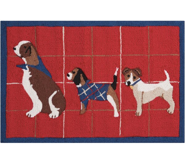 Hillyard Hand-Tufted Red Area Rug by Charlton Home