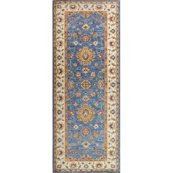 One-of-a-Kind Crichton Hand Woven Wool Light Blue/Beige Area Rug by Darby Home Co