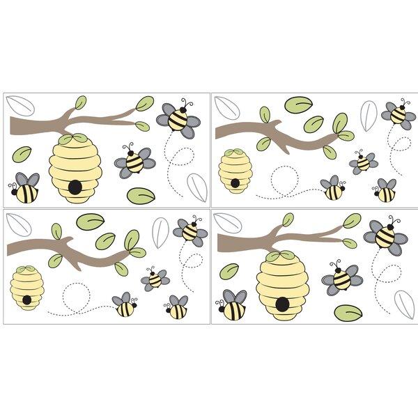 Honey Bee 4 Piece Wall Decal Set by Sweet Jojo Designs