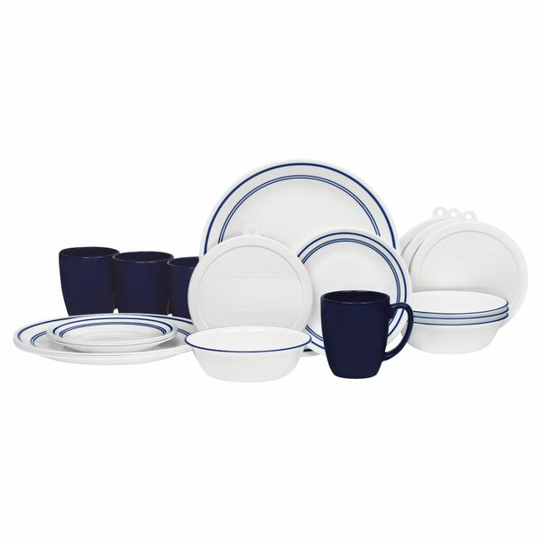 Livingware Classic Cafe 20 Piece Dinnerware Set, Service for 4 by Corelle