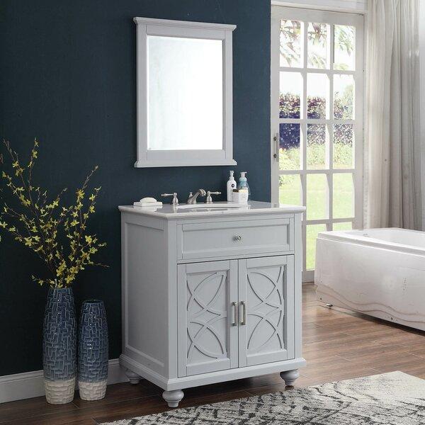 Burim 62 Double Bathroom Vanity Set with Mirror
