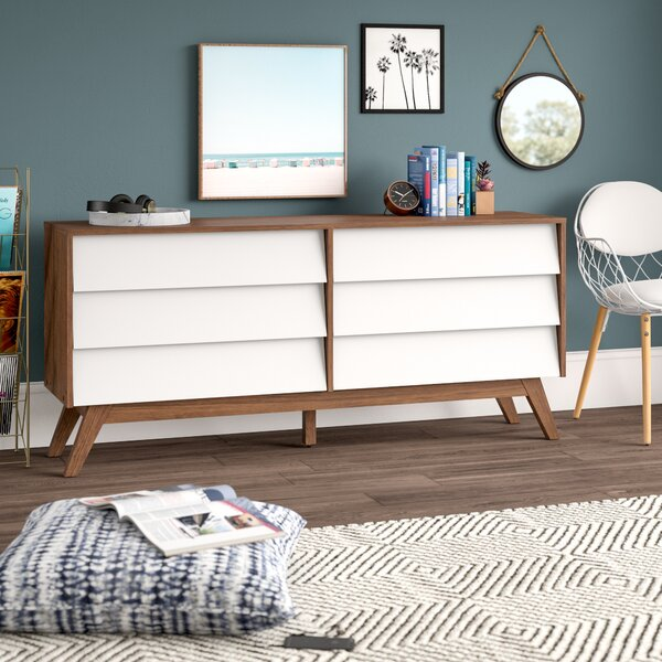 Ellenberger 6 Drawer Double Dresser by Mercury Row