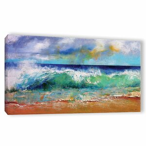 Ocean Waves Painting Print on Wrapped Canvas by Latitude Run