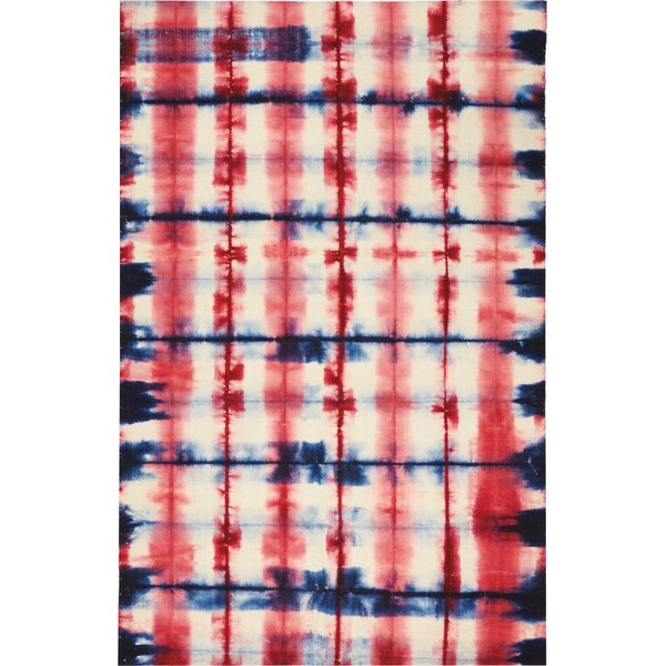One-of-a-Kind Emmitt Hand-Woven Red/Blue Indoor  Area Rug by World Menagerie