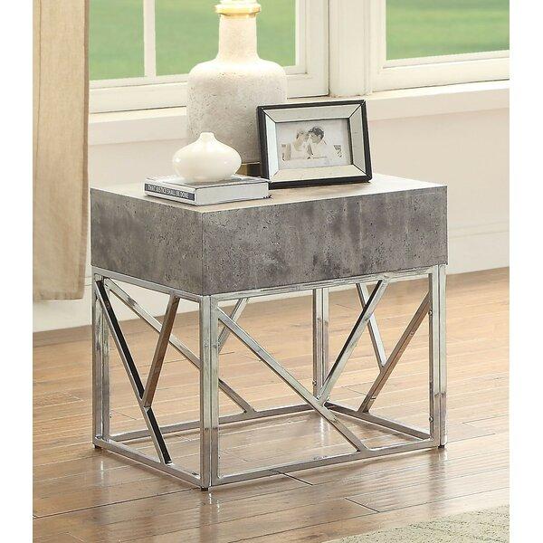 Rousseau End Table by Brayden Studio