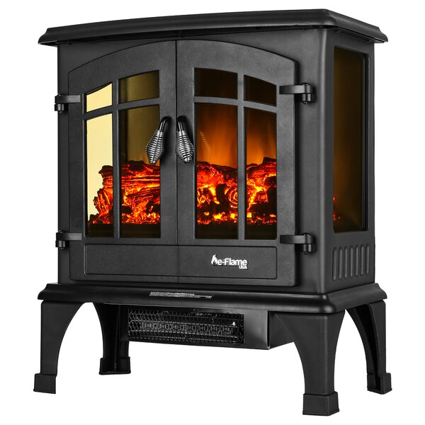 Priestley Portable Electric Fireplace Stove By Charlton Home