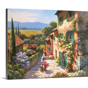 Spring in the Valley by Sung Kim Painting Print on Wrapped Canvas by Great Big Canvas