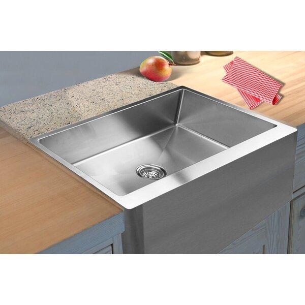 33 L x 21 W Straight Apron Front Single Bowl Undermount Kitchen Sink by Ukinox