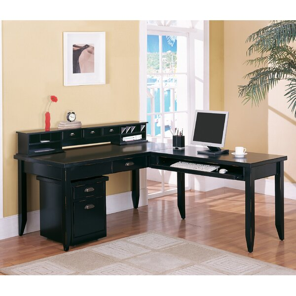 Michal Black L-Shaped Writing Desk by Canora Grey