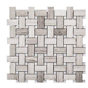 Misty Harbor 12 x 12 Mount Olympus Mosaic Tile in Gray by Kellani