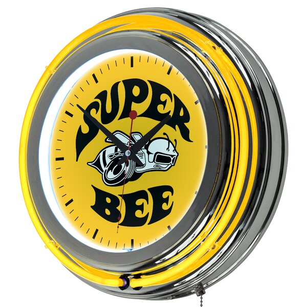 Dodge Super Bee Neon 14.5 Wall Clock by Trademark Global