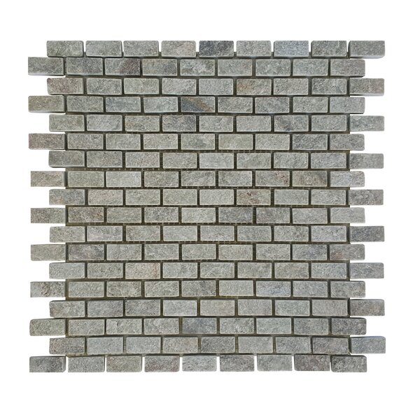 0.87 x 0.62 Stone Mosaic Tile in Gray by Abolos