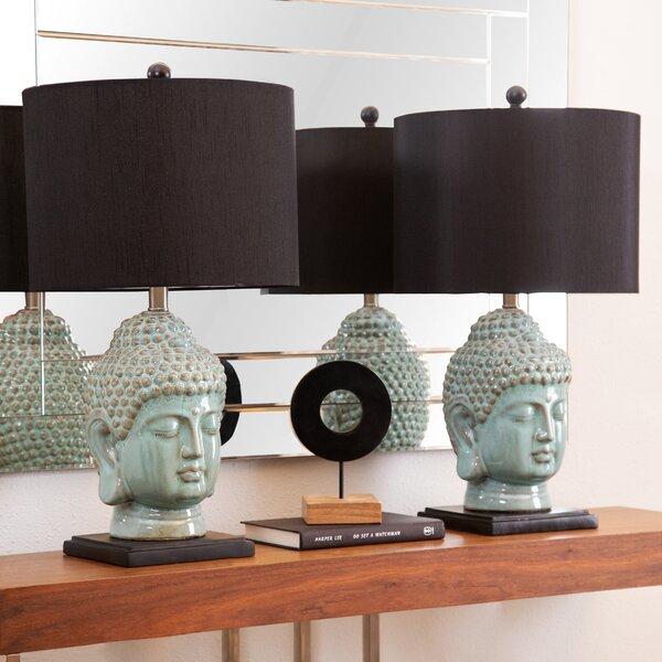 Pellegrini Buddha 23 Table Lamp (Set of 2) by World Menagerie