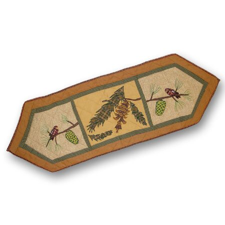 Pinecone Table Runner by Patch Magic