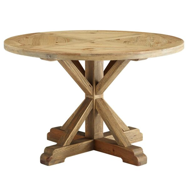 Indurial Solid Wood Dining Table by Millwood Pines