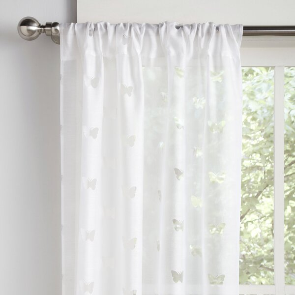 Wildlife Semi-Sheer Rod Pocket Curtain Panels (Set of 2) by Birch Lane Kids™