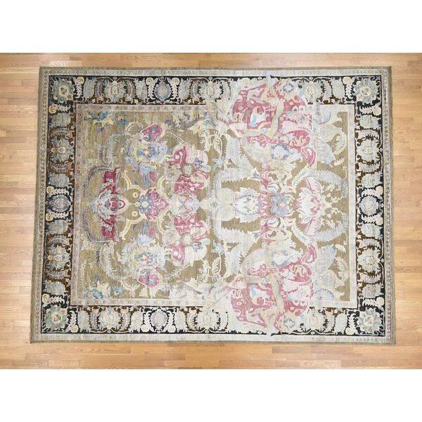 One-of-a-Kind Flickinger Hand-Knotted Beige 11'8 x 15' Area Rug