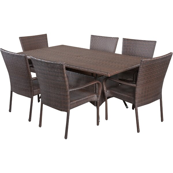 Fort Smith 7 Piece Dining Set by Alcott Hill