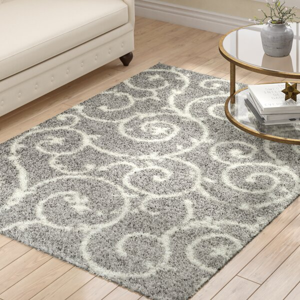 Birdsall Light Gray/White Area Rug by Andover Mills