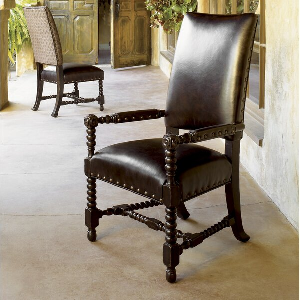 Kingstown Edwards Genuine Leather Upholstered Arm Chair (Set Of 2) By Tommy Bahama Home