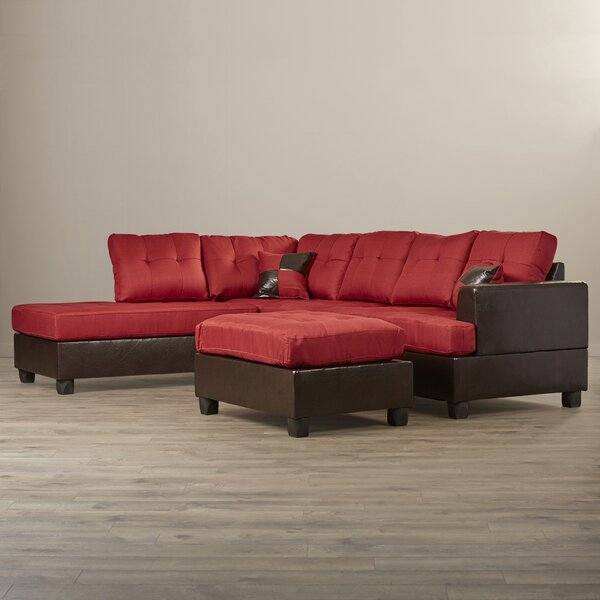 Sartain Reversible Sectional with Ottoman by Winston Porter