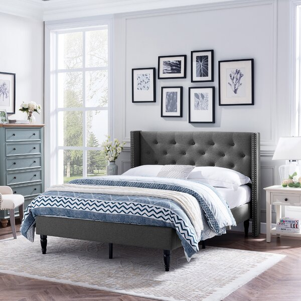 Chelsea Traditional Upholstered Bed by Alcott Hill