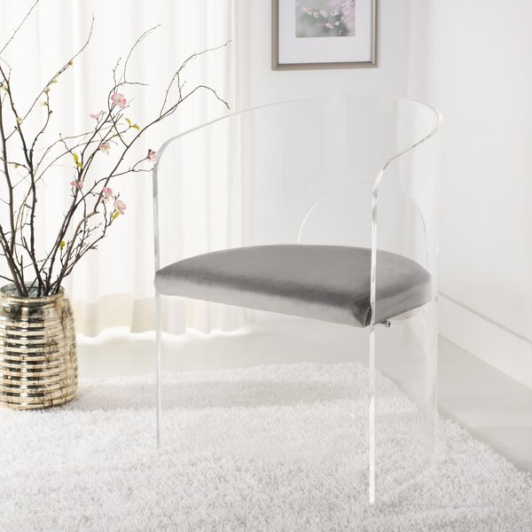 Slaugh Acrylic Accent Upholstered Side Chair by Orren Ellis
