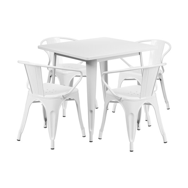 Carleigh Square Indoor-Outdoor 5 Piece Dining Set by Ebern Designs