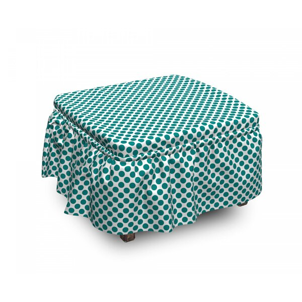 Design Vibrant 2 Piece Box Cushion Ottoman Slipcover Set By East Urban Home