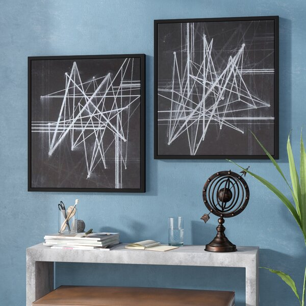 2 Piece Framed Graphic Art on Wrapped Canvas Set by Williston Forge